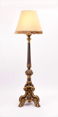 ROCOCO STYLE CONTEMPORARY TORCHIERE FLOOR LAMP