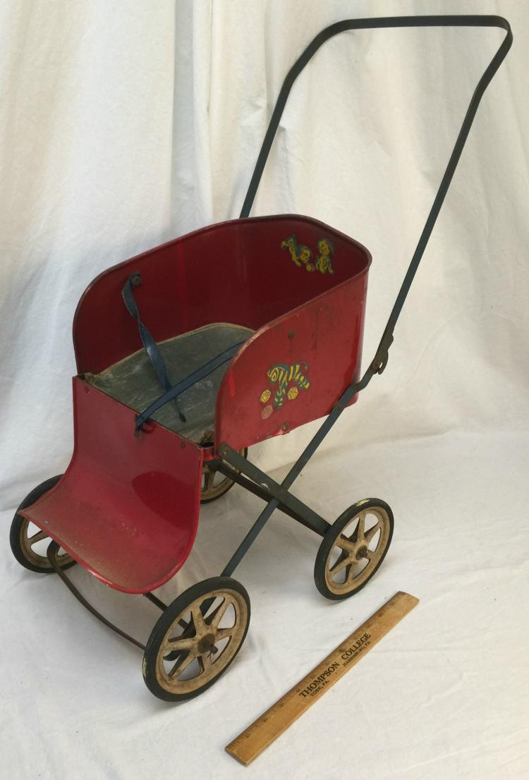 Vintage Toy Stroller Metal Doll Stroller By Muskin Mfg Co Vintage