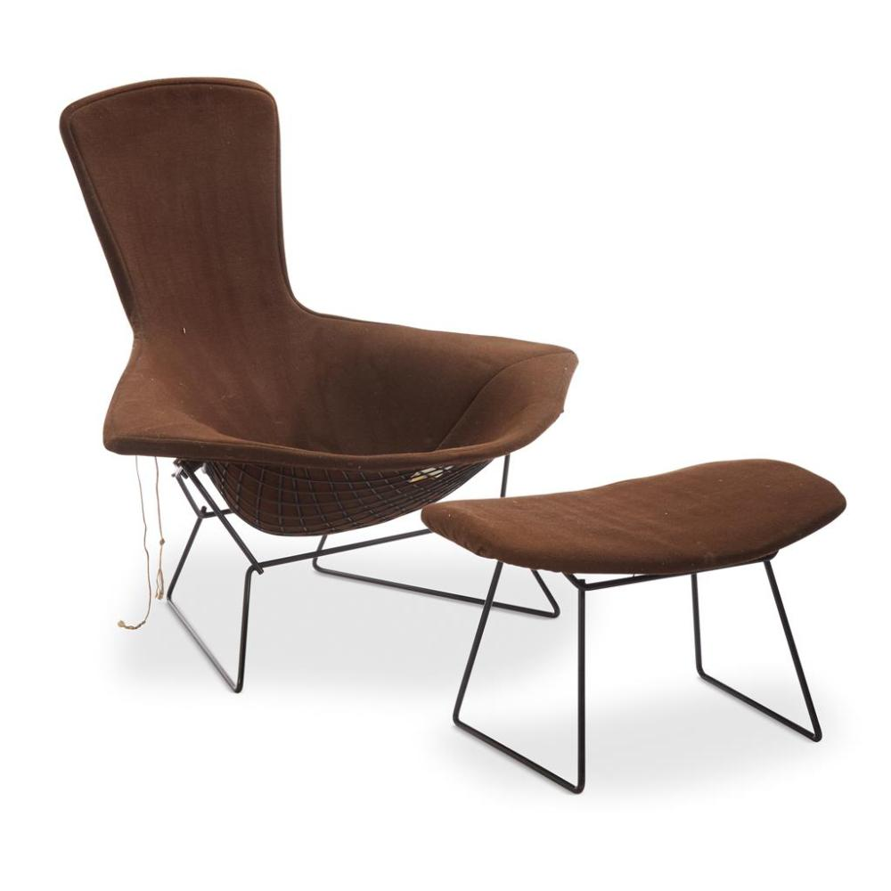 Knoll International Harry Bertoia Bird Chair And Ottoman Knoll International C