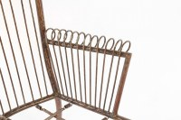 SET OF 4 MID CENTURY MODERN WROUGHT IRON CHAIRS