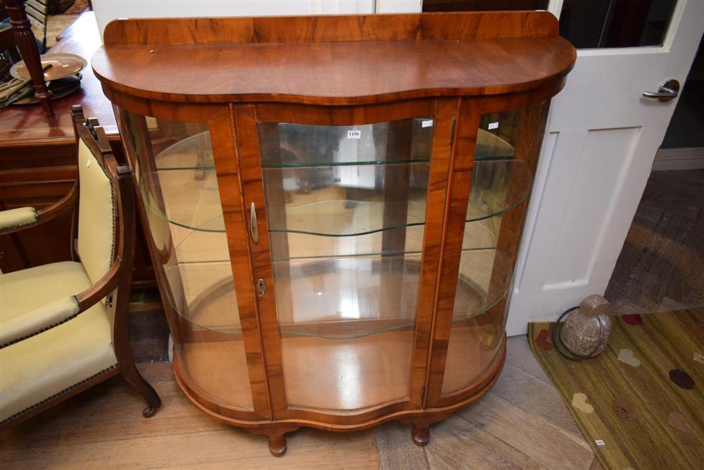An Art Deco Glass Display Cabinet H119 X W109 X D39