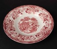 Clarice Cliff Red and White Dinnerware