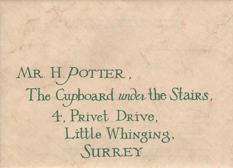 D Radcliffe \ - hogwarts acceptance letter