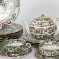Rose Medallion Dinnerware Set - 44 Pieces