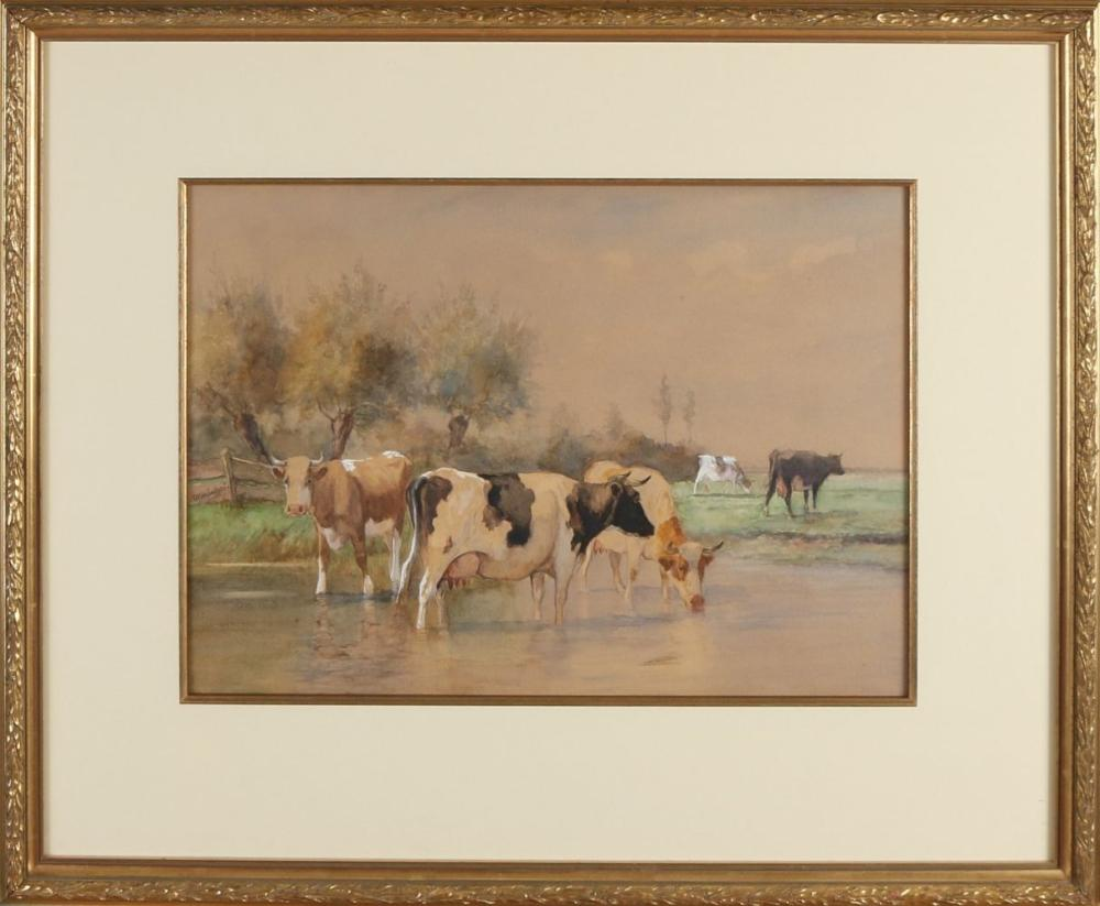 Sold Price Dirk Peter Van Lokhorst Landscape With Pollard Willows And Cows Near Watering Place October 4 0120 10 00 Am Cest