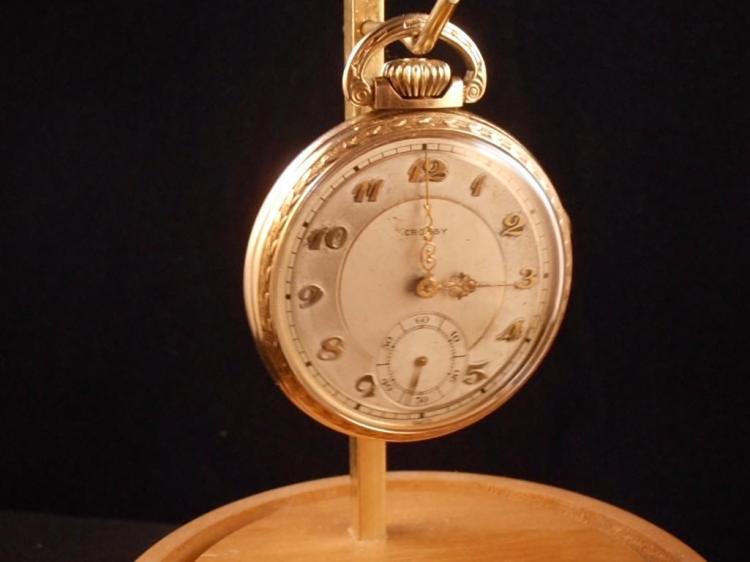 Everbrite Watch Co Crosby 1930s 21J size 16 - 10KRGF Stem Se