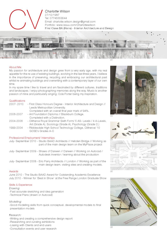 interior design cv pdf