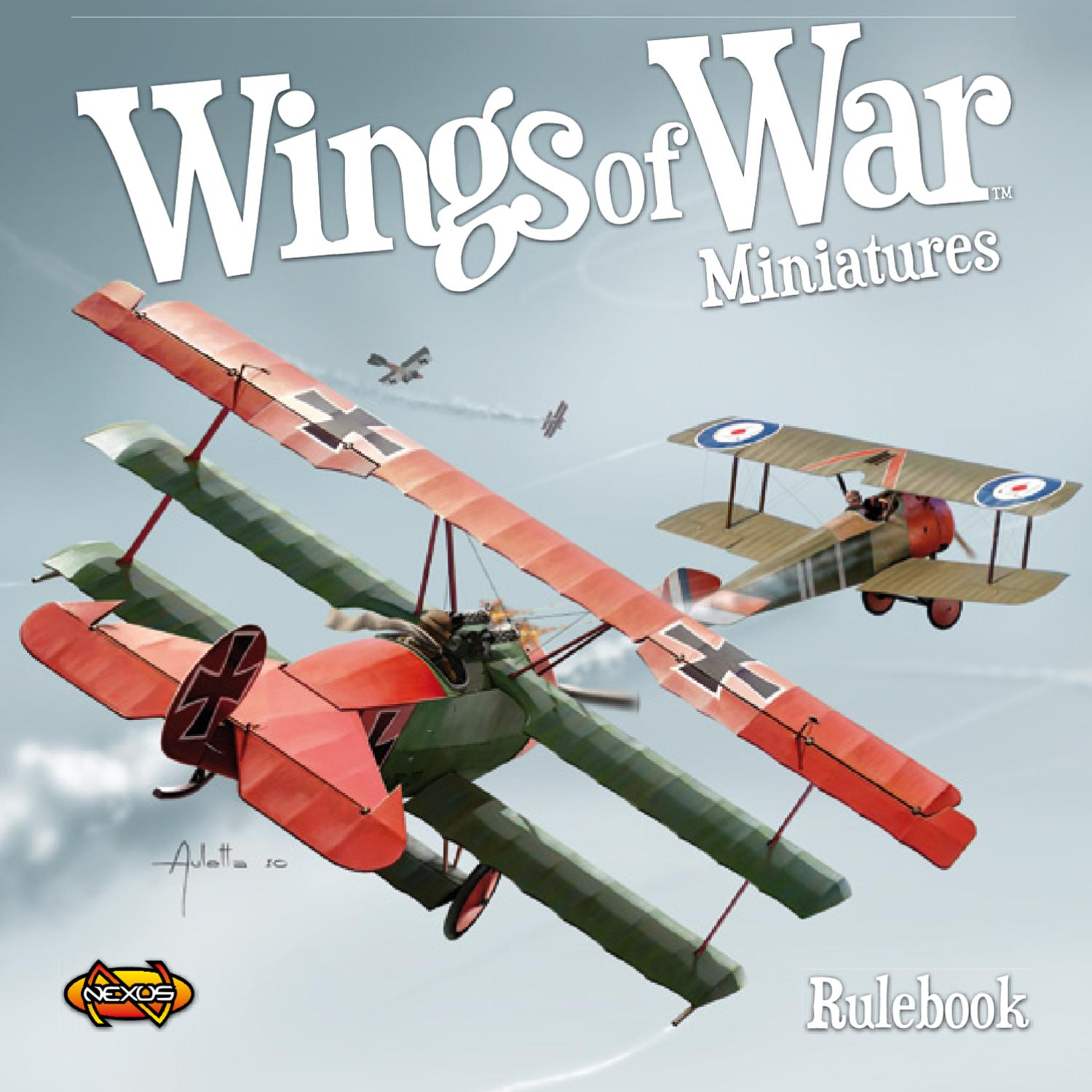English Ng Sala Set Wings Of War Ww1 Miniatures Revised Deluxe Set English