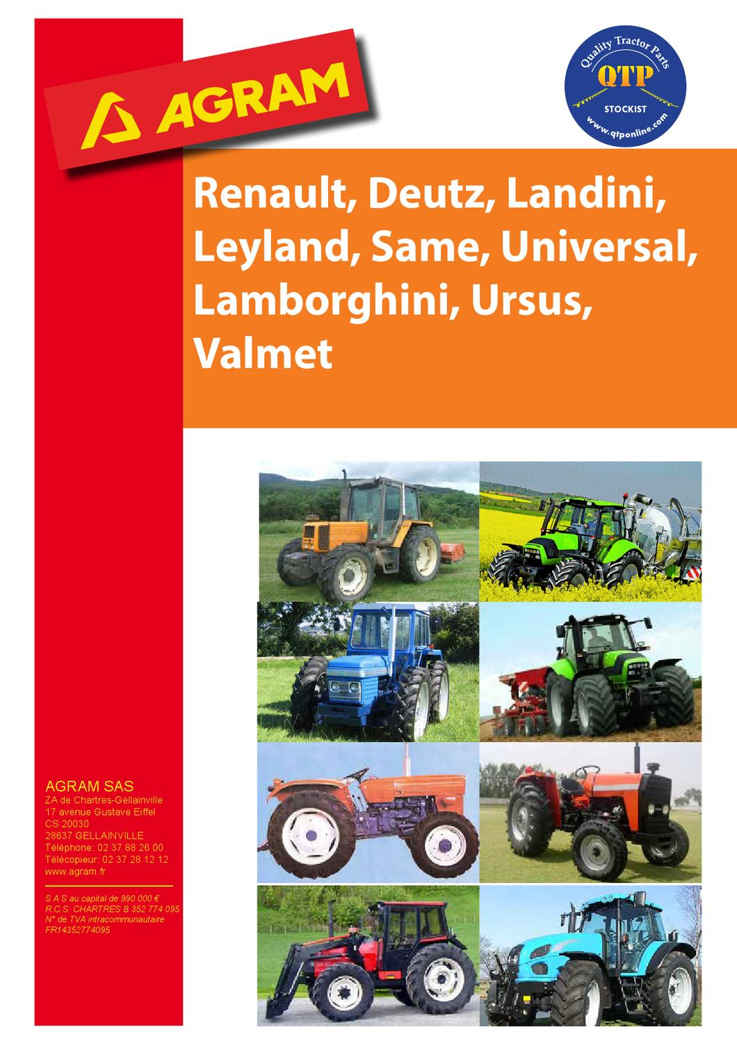 Peinture Leyland Renault Agram By Quality Tractor Parts Issuu