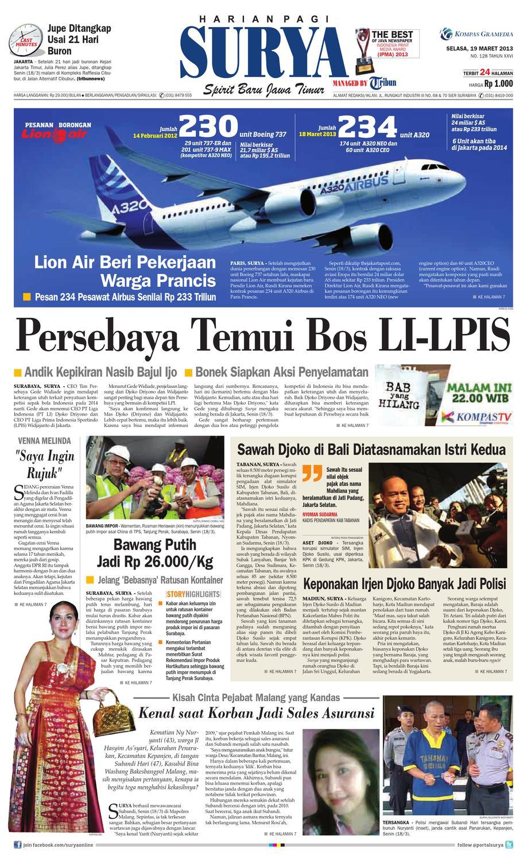 Harian Radar Pekalongan 1 Maret 2013 Sejarah Surakarta Wikipedia Bahasa Indonesia Tapak Jejak Koran Pagi Issuu Selasa 19 Maret 2013 Surya