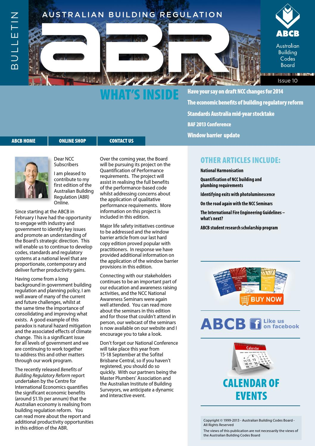 Cots Online Australia Abr Online Issue10 By Australian Building Codes Board Issuu