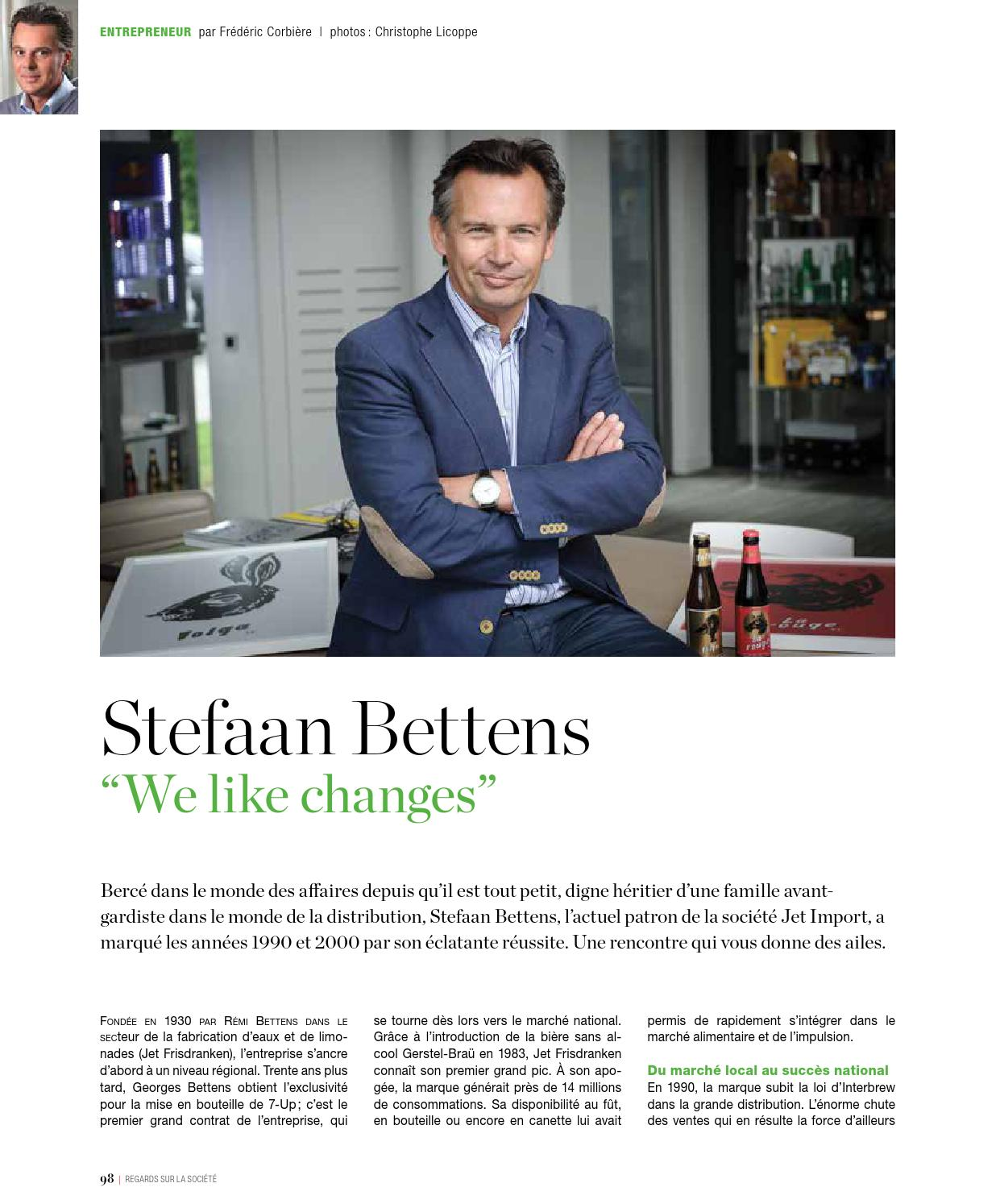 Betteins Reportage Exclusif Magazine Eventail Stefaan Bettens By