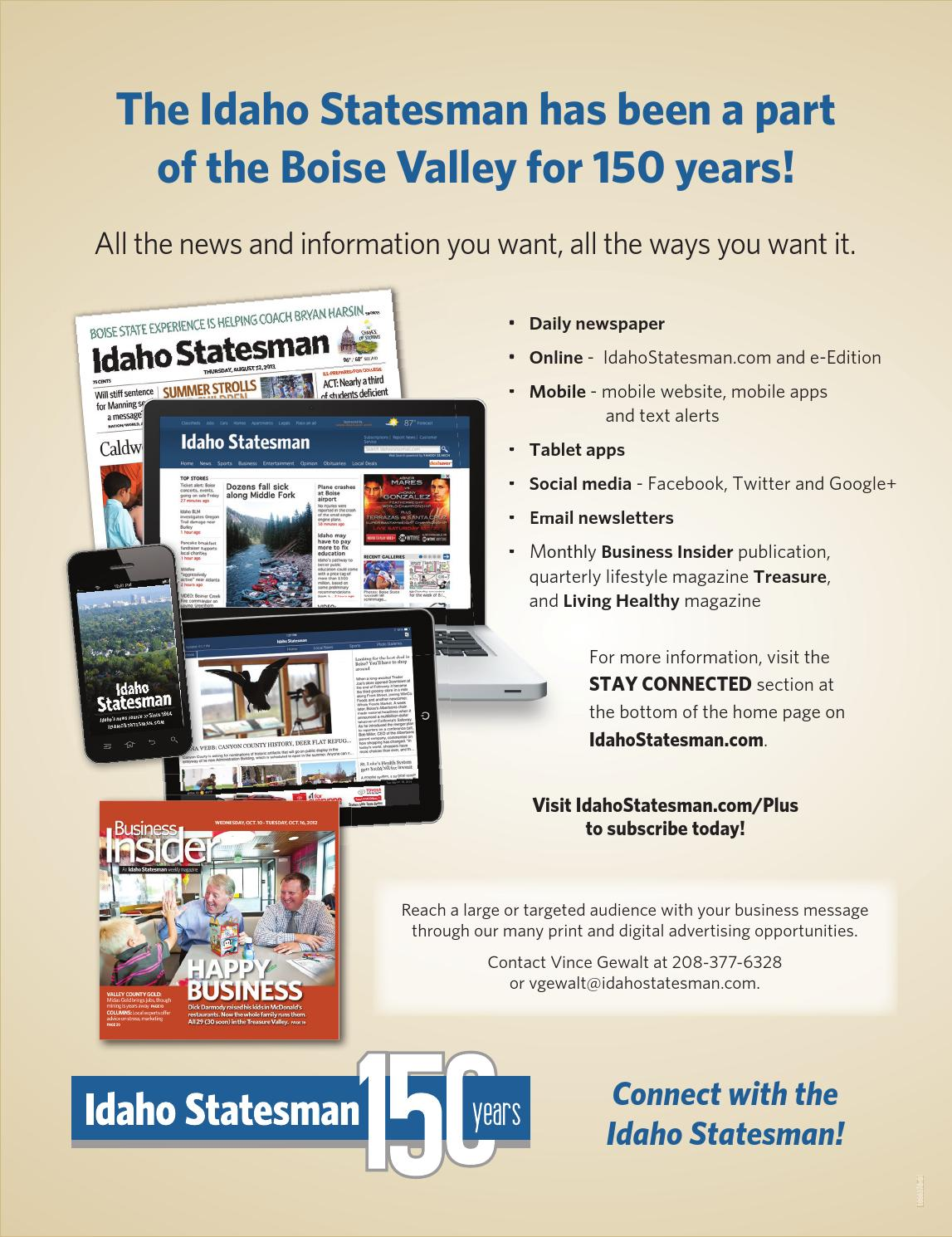Idaho statesman newspaper online - Idaho Statesman Newspaper Online