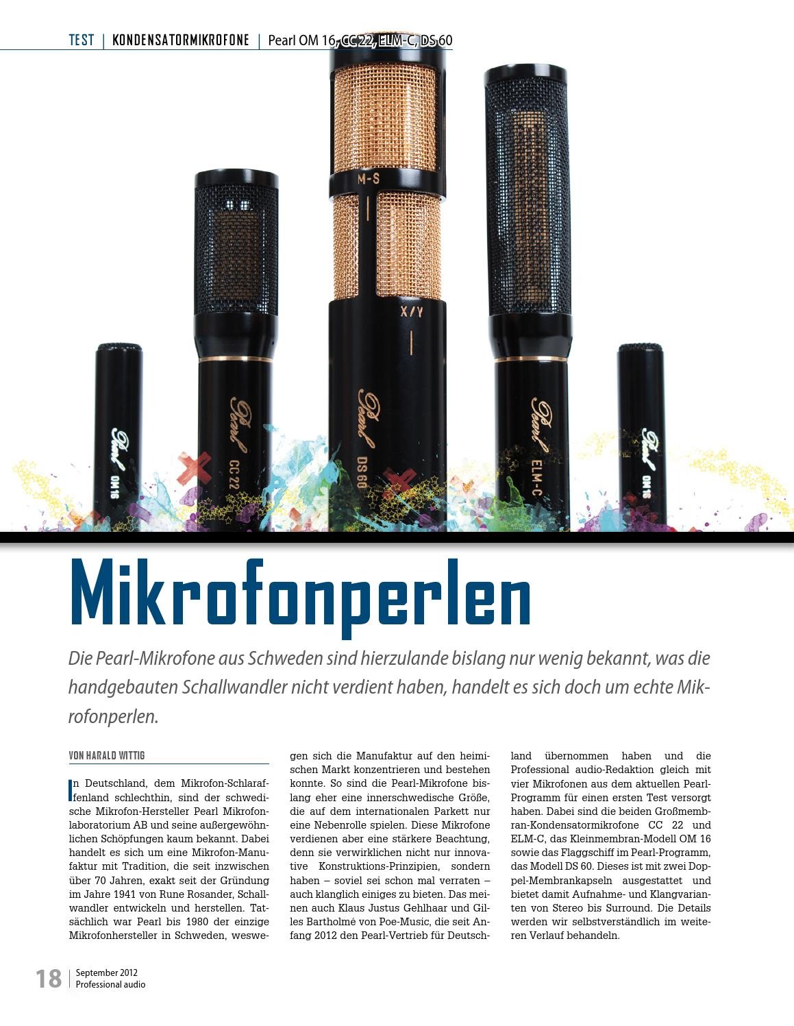 Mikrofonhersteller Pearl Microphone Test By Moiz Audio Issuu