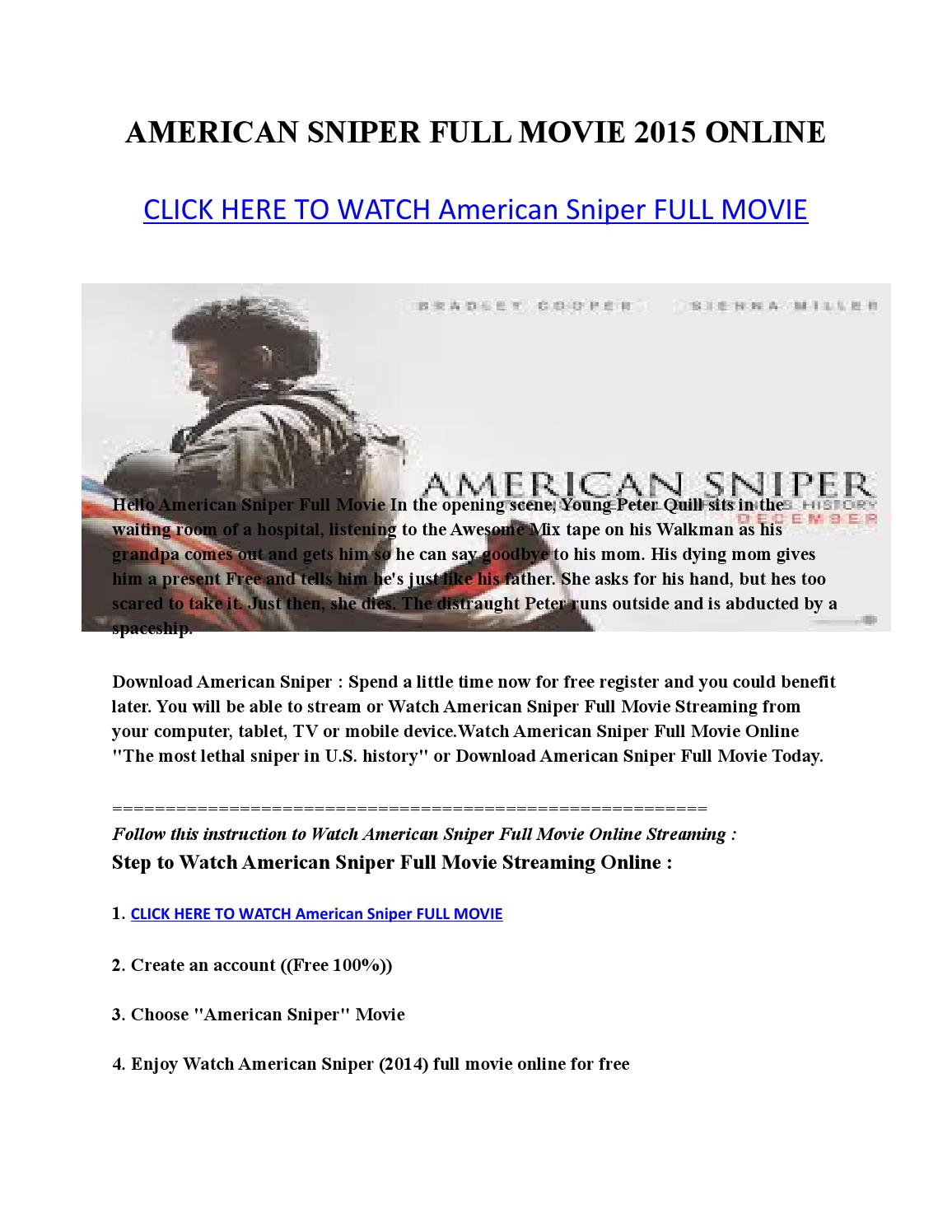 American Sniper Libro En Español Issuu American Sniper Full Movie 2015 Online By Fadly