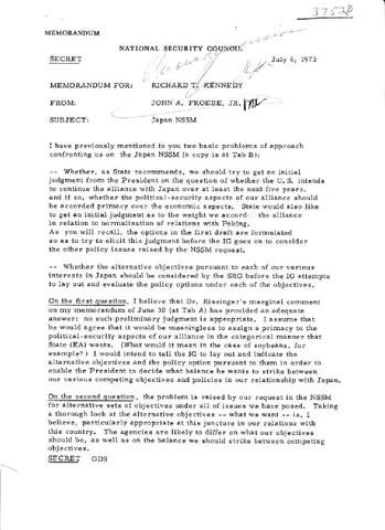 Jul 6 memo » Richard Nixon Foundation