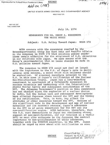 Jul 16 memo » Richard Nixon Foundation