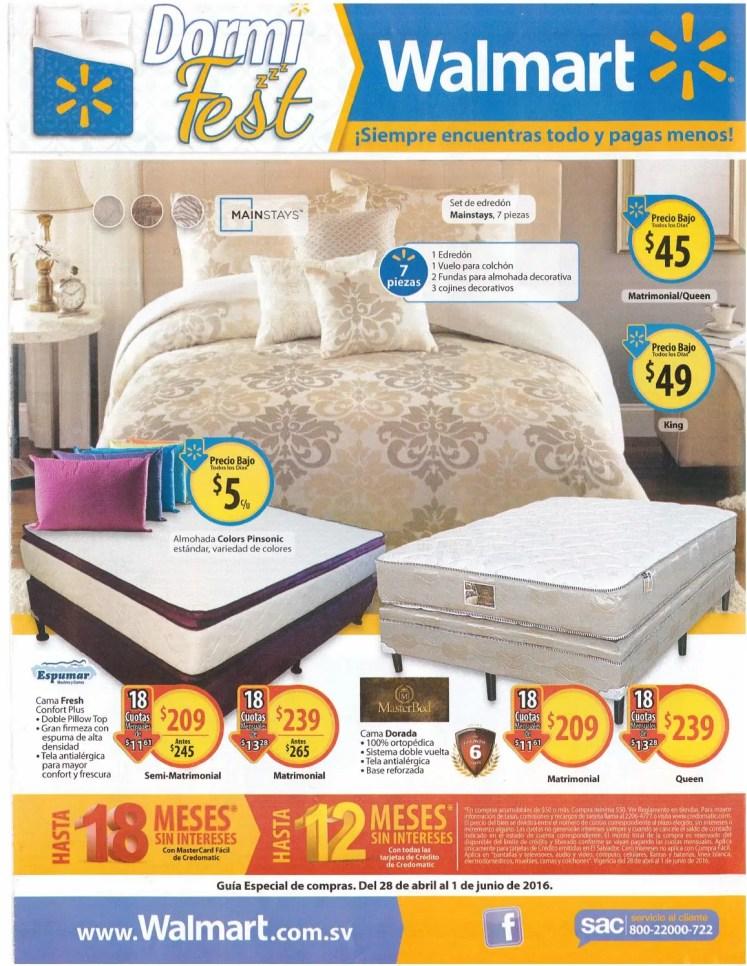 WALMART especial de ofertas en camas almohadas colchones y