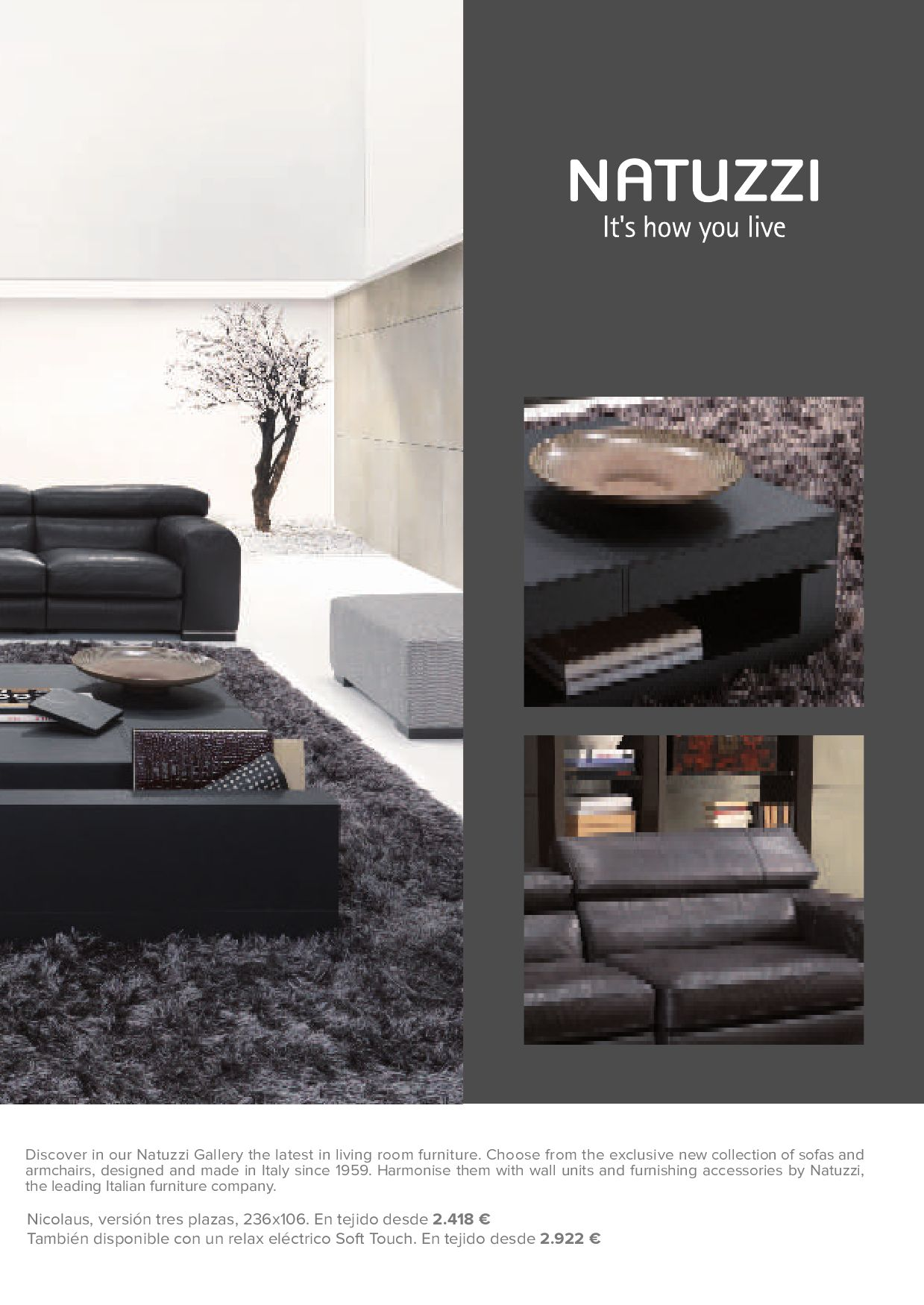 Sofa Natuzzi Electrico Abcmallorca The Gourmet Issue By Abcmallorca Issuu