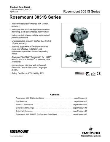 Rosemount 3051S Series - APril 2006 by luppo luppo - issuu