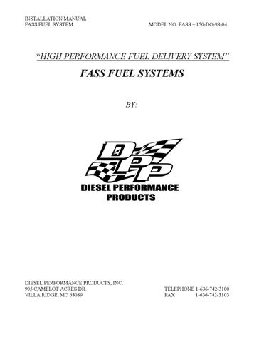 19985 - 2004 Dodge Cummins FASS Install Manual by Diesel Bombers