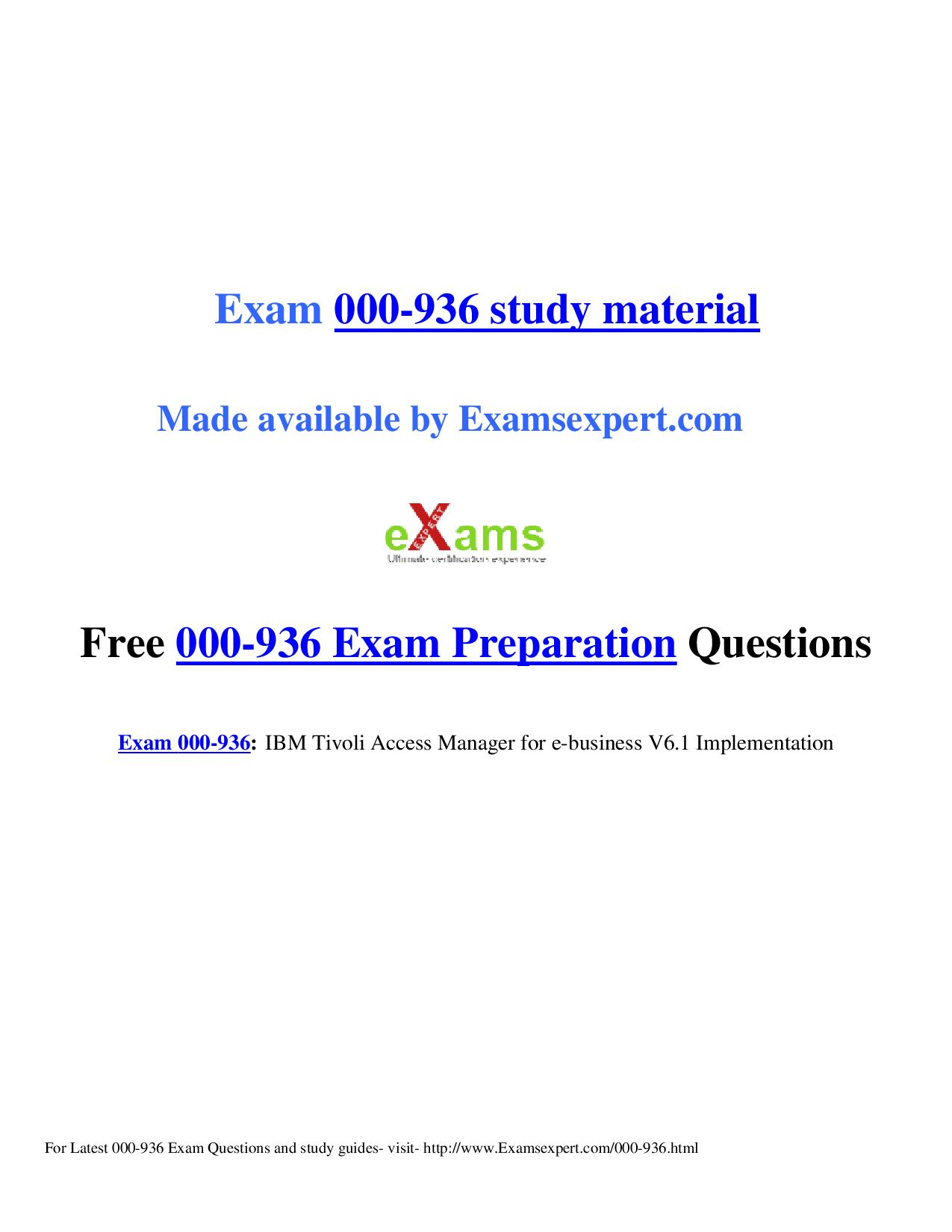 Tivoli Access Manager Session Management Server Exam 000 936 Preparation Questions By David Warner Issuu