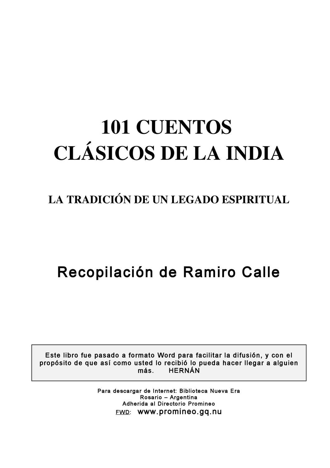 Libros Ramiro Calle 101 Cuentos By V S Issuu