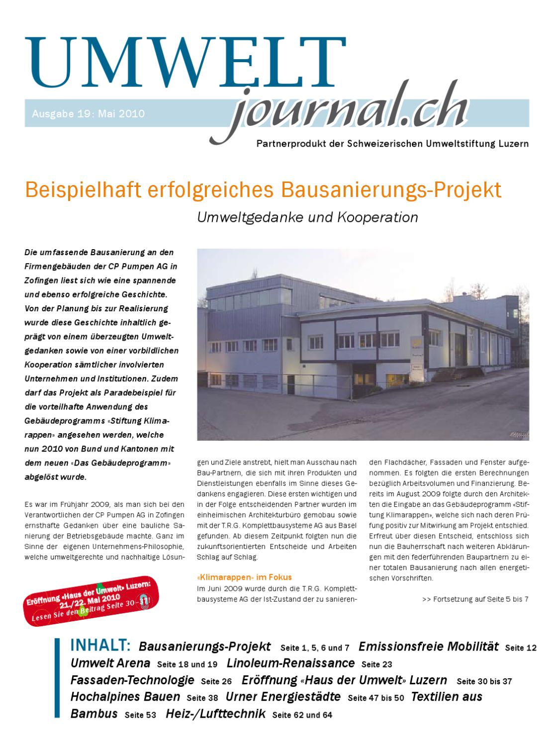Umweltjournal Mai By Hans Muster Issuu
