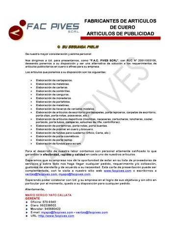 CARTA DE PRESENTACION by JAIME ARMANDO AMARO PROA - issuu