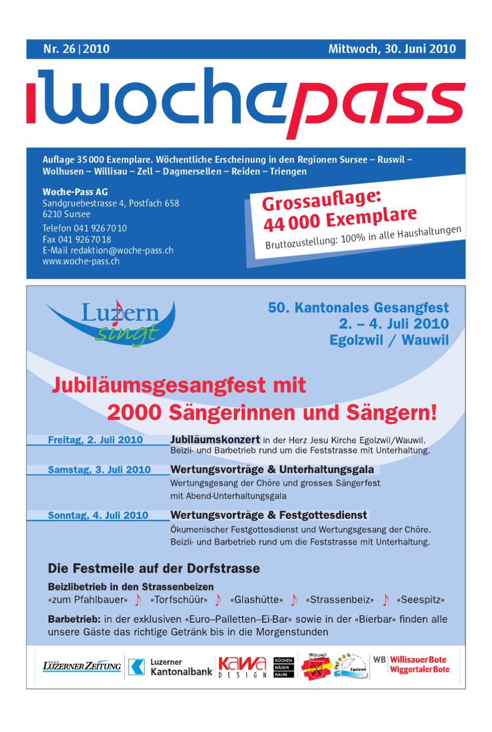 Woche Pass Kw26 30 Juni 2010 By Woche Pass Ag Issuu