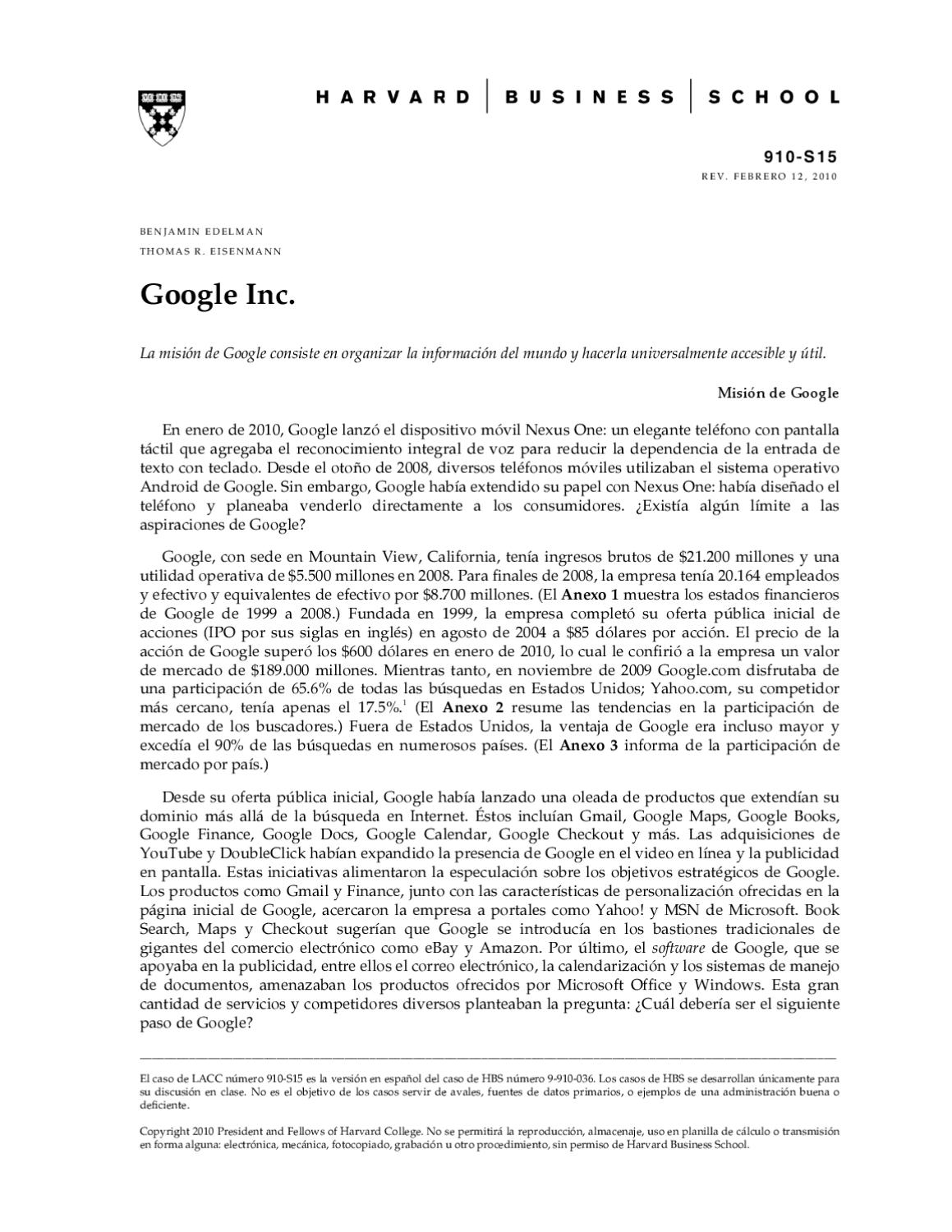 Libros Googles Google Inc