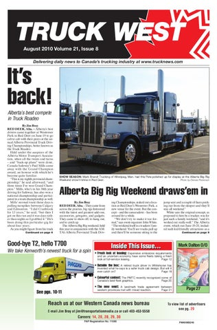 Truck West August 2010 by Annex Business Media - issuu