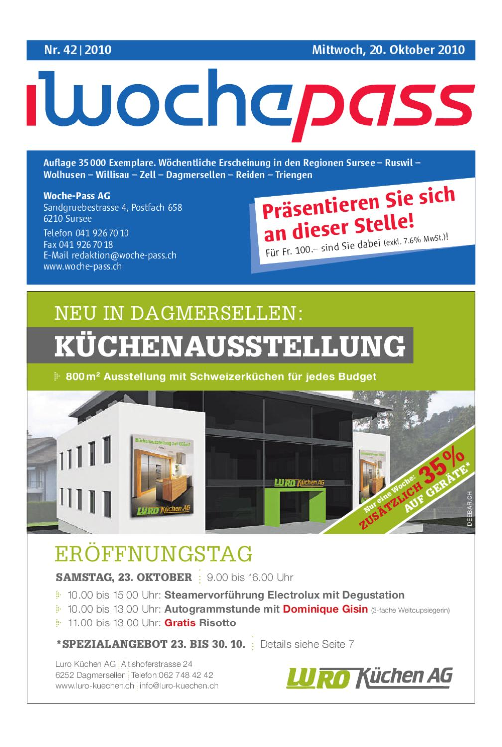 Woche Pass Kw42 20 Oktober 2010 By Woche Pass Ag Issuu