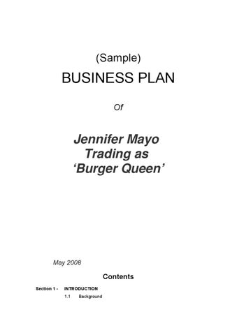 Sample Business Plan by Low Cost Website Company - issuu