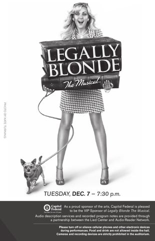 Legally Blonde The Musical Program by Lied Center of Kansas - issuu