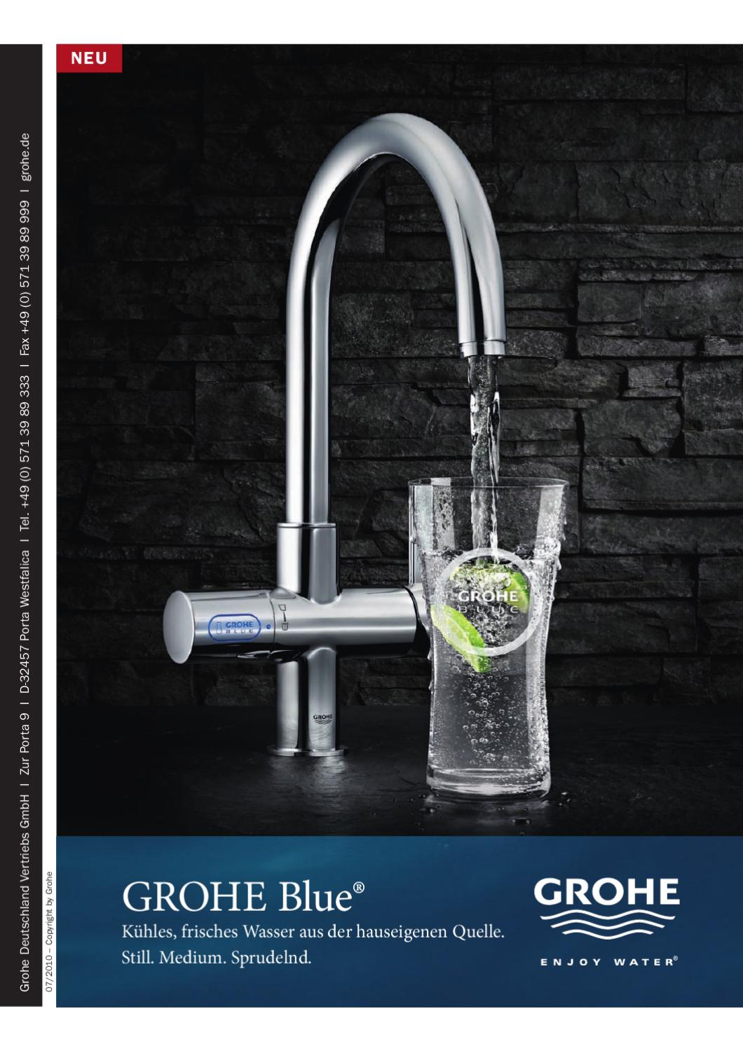 Grohe Armaturen Porta Westfalica Grohe Blue And Grohe Red By Grohe Issuu
