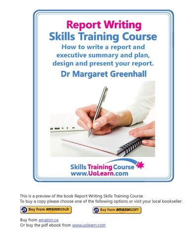 Report Writing Skills Training Course Book How to write a report - executive summaries books