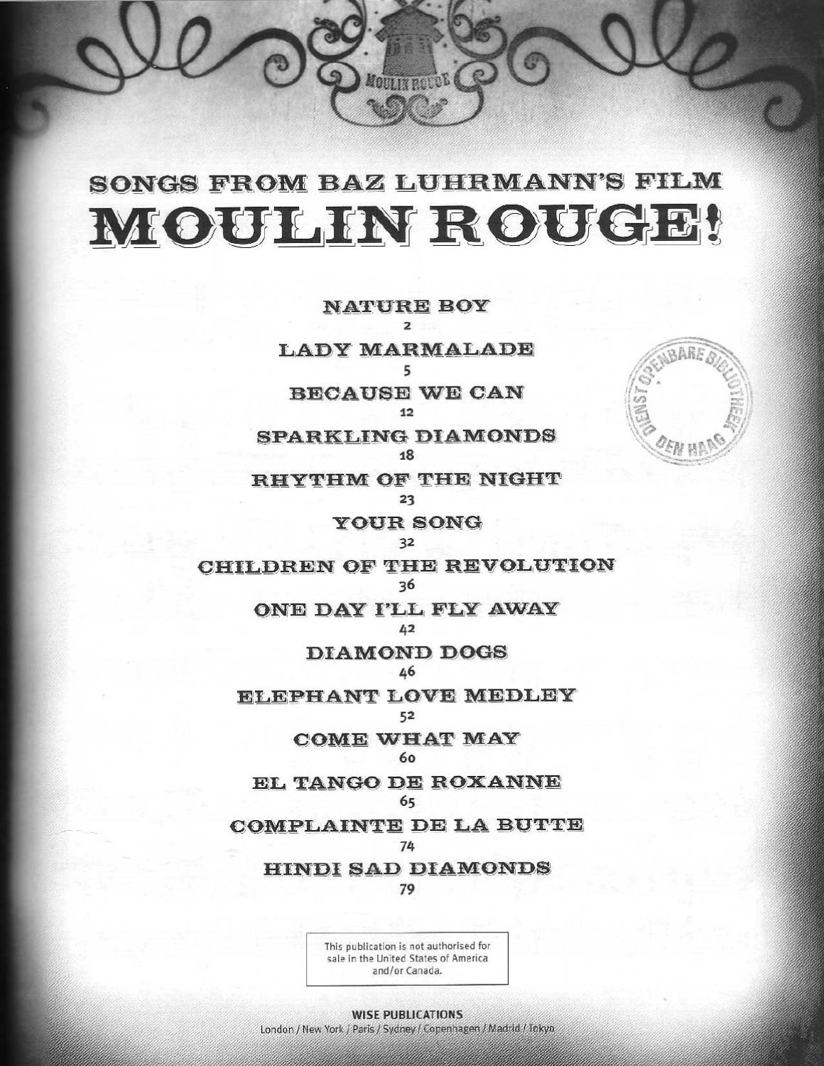 Moulin Rouge Libro Moulin Book Music By Federica Brian Issuu
