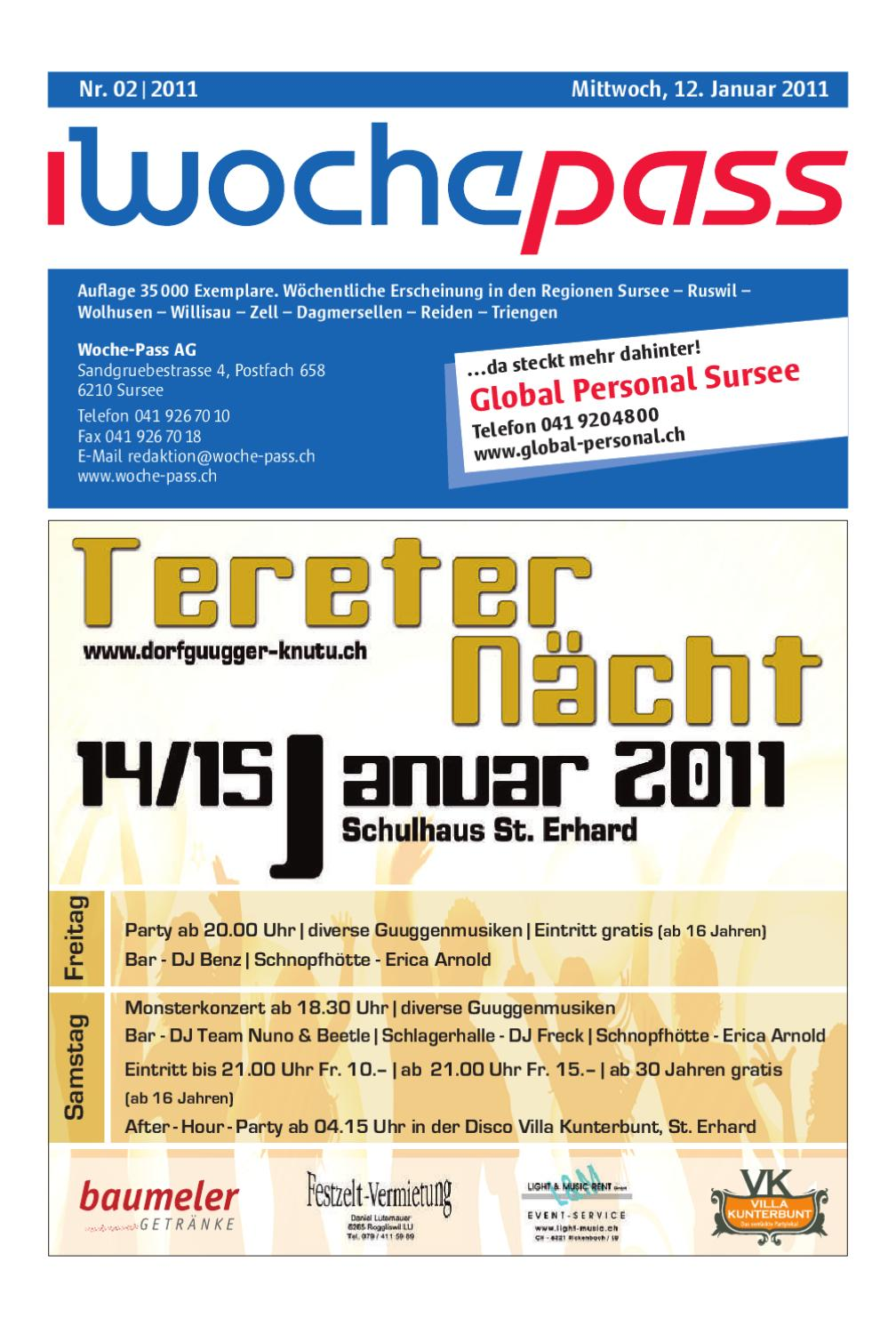 Woche Pass Kw 02 12 Januar 2011 By Woche Pass Ag Issuu