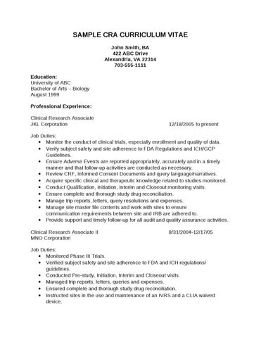 cra sample resume - Maggilocustdesign - cra officer sample resume