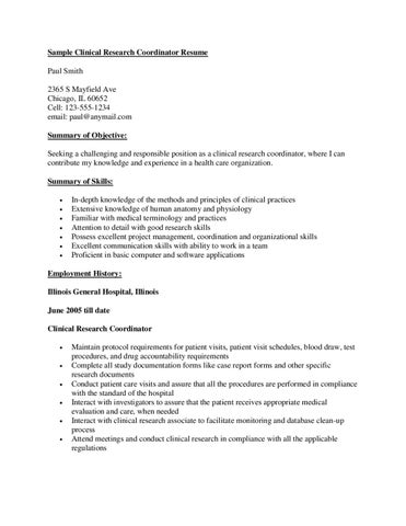 Sample CRC Resume by Pharma Student - issuu - clinical research coordinator resume