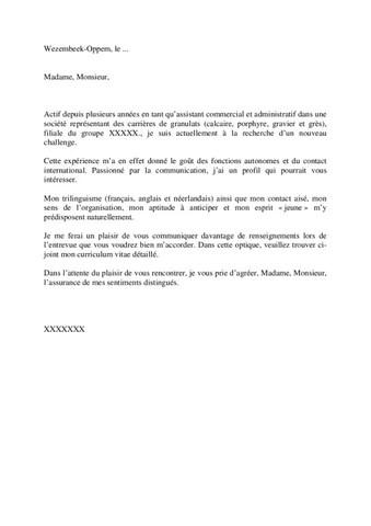Exemple de lettre de motivation (Randstad 1) by Jobs  Careers CV - modele lettre de motivation