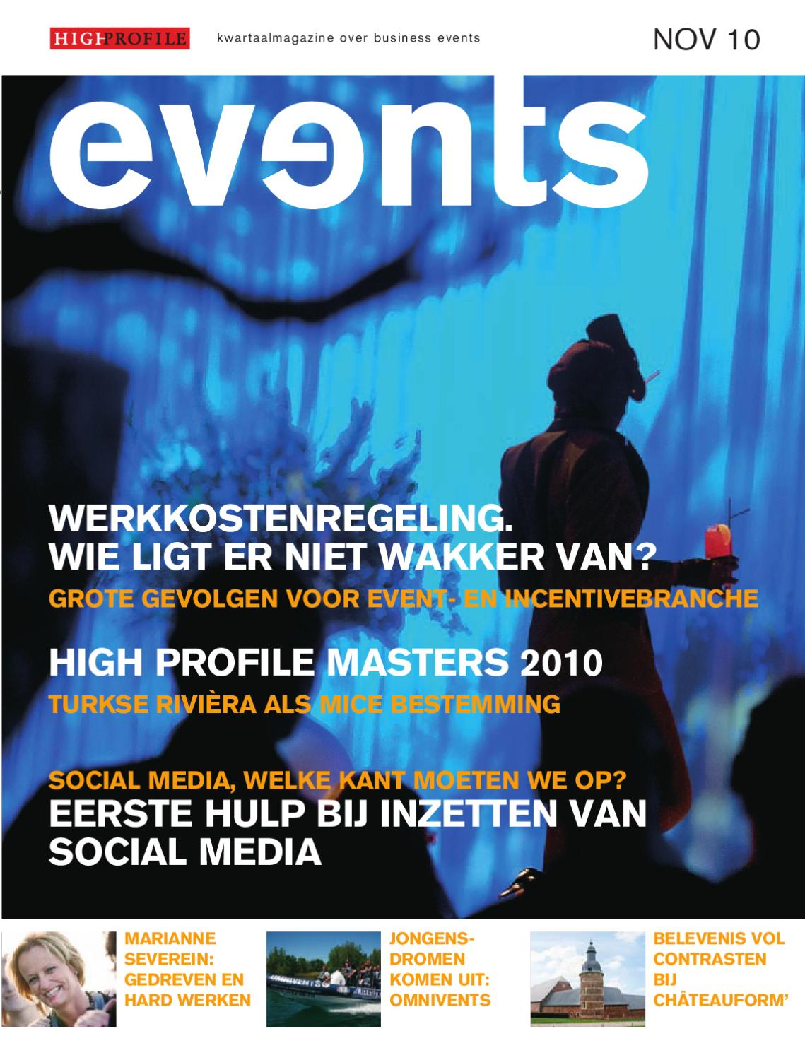 Bedrijfskolom Tapijt Events Magazine November 2010