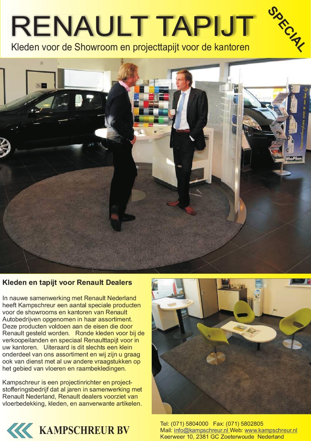 Backing Tapijt Renault Kleden By Robert Kampschreur Issuu