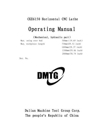 CKE6150 - Operation Manual by Lisandro Forteaga - issuu - operation manual