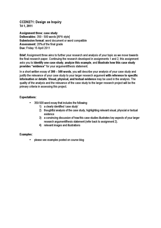 short essay format example