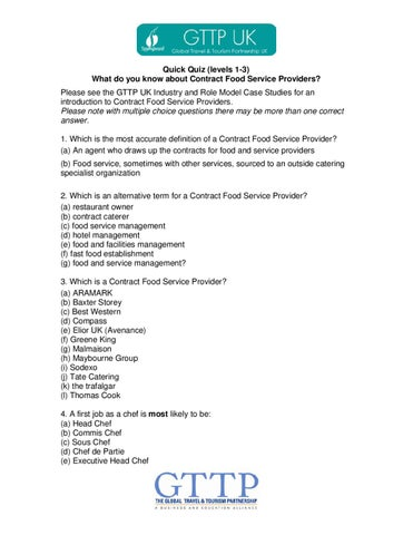 Contract Food Service Providers Quiz by Resource Gateway - issuu
