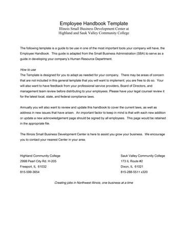 Employee Handbook Sample by Jan Bauer - issuu
