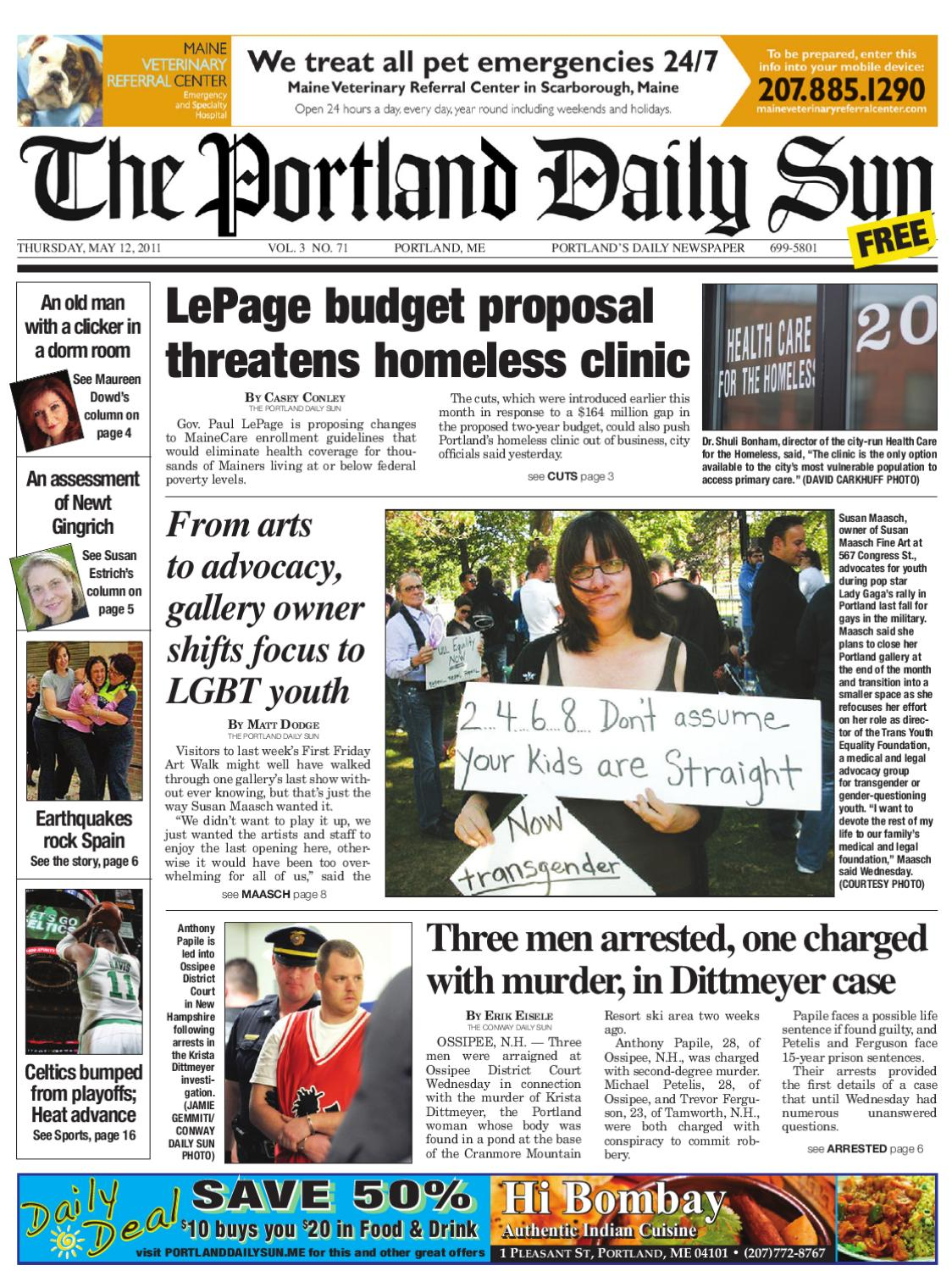 Estrich Legen The Portland Daily Sun Thursday May 12 2011 By Daily Sun Issuu
