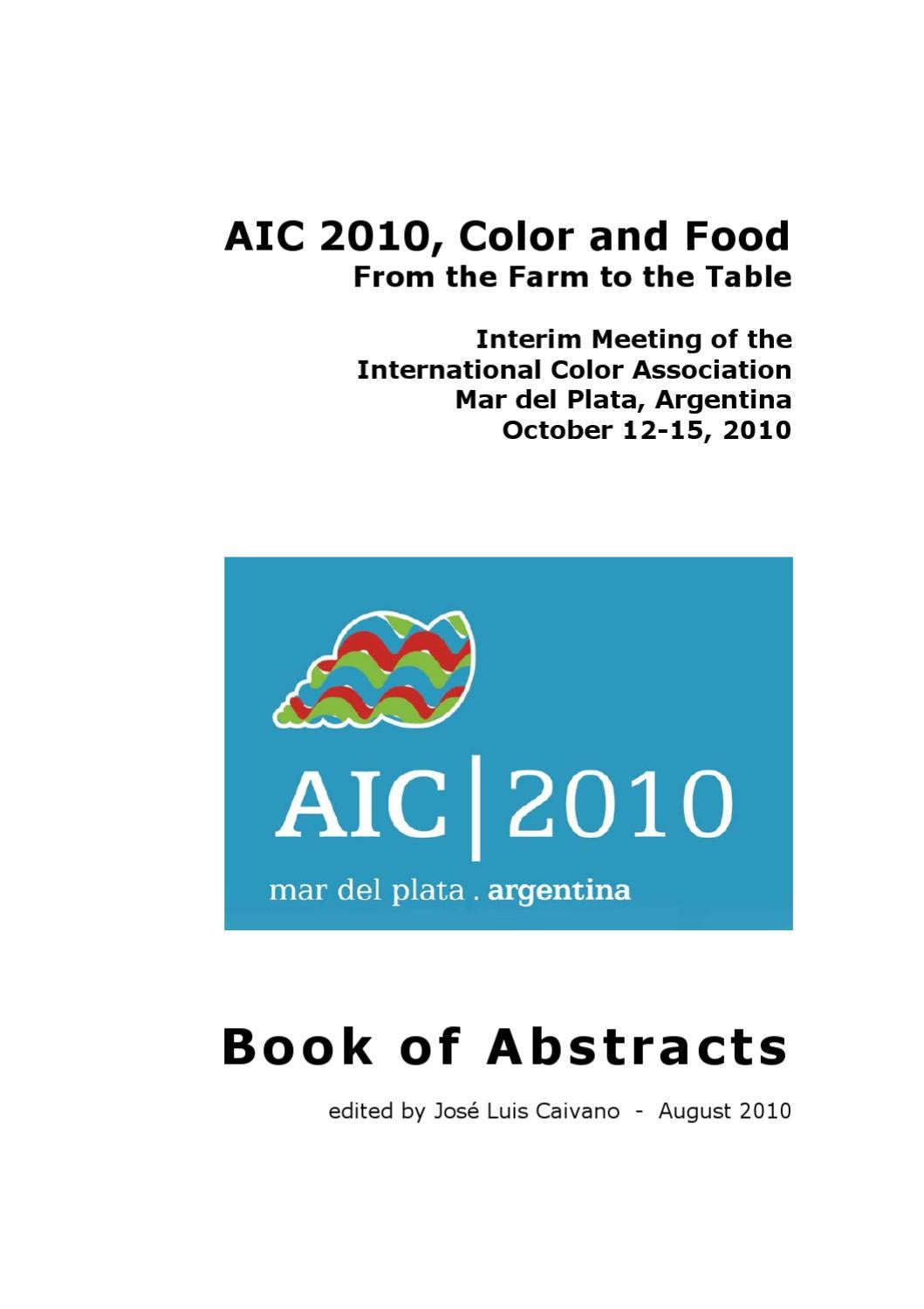 Arte Et Marte Cs Go Aic 2010 Color And Food Book Of Abstracts By Jose Caivano Issuu